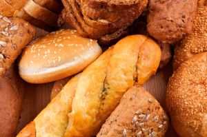 Arrangement of baked bread and rolls