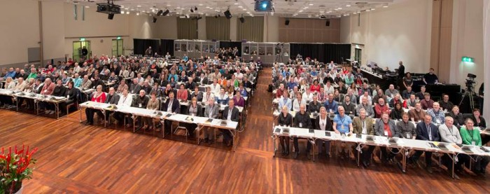 Landsmøte 2013: Oversiktsbilde fra salen. (Foto: Morten M. Løberg)