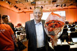 Landsmøte 2013: Svein Fjellheim tildelt pioneren. (Foto:  Erlend Angelo)